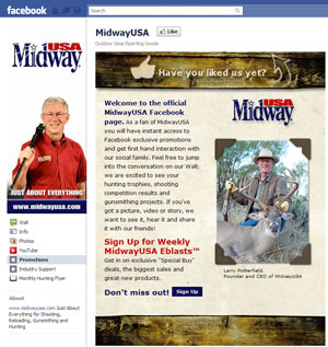 MidwayUSA launches Facebook page and Twitter feed