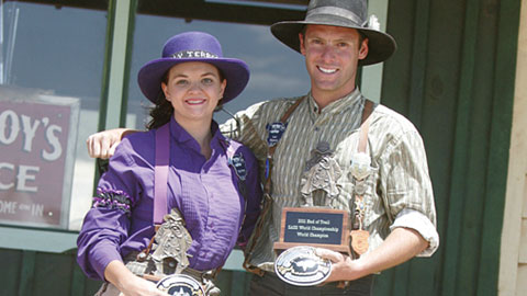 The Single Action Shooting Society Congratulates World Champions Spencer Hoglund and Randi Rogers.