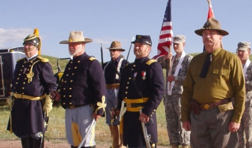 Hell on Wheels Color Guard