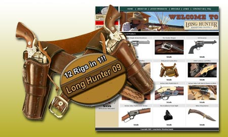 Long Hunter launches a redesigned web site and a new gunleather shooting system.