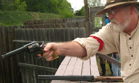 Defending Fort Parker Charity Shoot
