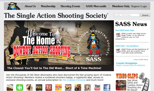 New SASS Home Page